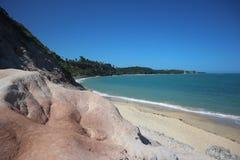 Espelho beach in Trancoso, Bahia, Brazil. Scenic panorama of this unique tropical paradise stock photo