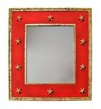 Espelho com estrelas Fotografia de Stock Royalty Free