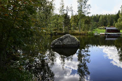 Espelho da água Fotos de Stock Royalty Free