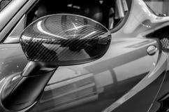 Espelho da fibra do carbono Imagens de Stock