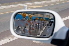 Espelho das barricadas Fotos de Stock Royalty Free