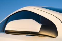 Espelho de carro branco Fotos de Stock Royalty Free