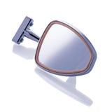 Espelho de carro retro no fundo branco Foto de Stock