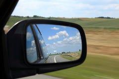Espelho de um carro Foto de Stock