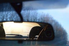 Espelho de vista traseira Fotos de Stock Royalty Free