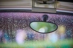 Espelho de vista traseira fotografia de stock