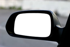 Espelho do lado esquerdo com trajeto de grampeamento Imagem de Stock