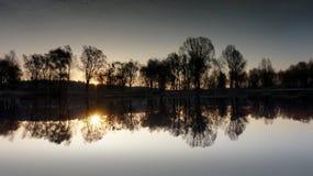 Espelho do lago Foto de Stock Royalty Free