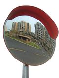 Espelho do tráfego imagem de stock royalty free