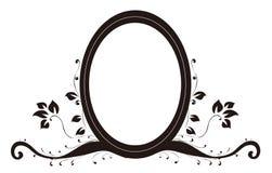 Espelho e lótus ovais Imagens de Stock Royalty Free