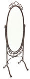 Espelho ereto ornamentado sobre o branco Fotografia de Stock