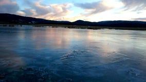 Espelho incrível do gelo Fotos de Stock Royalty Free