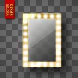 Espelho para a composição ou um quadro da foto ilustração royalty free