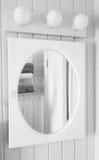 Espelho preto e branco Foto de Stock