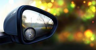 Espelho retrovisor do vetor com vidro para o ponto cego ilustração do vetor