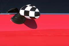Espelho vermelho do sideview de Mini Cooper Imagens de Stock