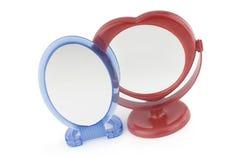 Espelho vermelho e azul Foto de Stock Royalty Free