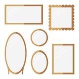 espelhos ajustados no fundo branco Imagens de Stock Royalty Free