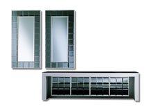Espelhos e sofá modernos ilustração stock