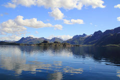 Espelhos mágicos de Trollfjord Fotografia de Stock Royalty Free