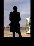 Espera da mulher fotografia de stock