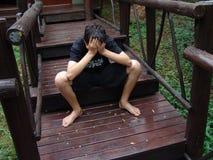 espera do adolescente Fotografia de Stock
