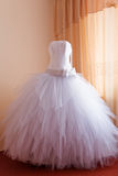 Espera do vestido de casamento Fotos de Stock Royalty Free
