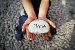 Esperança de uma criança Imagem de Stock