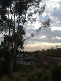 A esperança do céu trenches Los Angeles imagem de stock