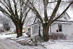 Esperança do porto da tempestade de gelo - 22 de dezembro de 2013 O do sul Fotos de Stock Royalty Free