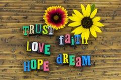Esperança do sonho do amor da fé da confiança fotos de stock royalty free