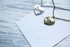 Esperança e amor do coração Imagem de Stock
