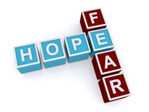 Esperança, medo ilustração stock