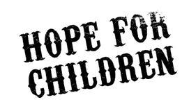 Esperança para o carimbo de borracha das crianças imagens de stock royalty free