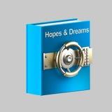 Esperanças e vault do livro de sonhos Foto de Stock Royalty Free