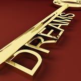 Esperanças e visões de representação chaves dos sonhos Fotos de Stock Royalty Free