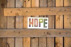 Esperança Fotografia de Stock
