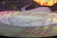 Esperança brilhante: o sétimo ensaio nacional da cerimônia de inauguração dos jogos da cidade Fotografia de Stock Royalty Free