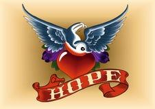Esperança do pisco de peito vermelho do tatuagem Foto de Stock Royalty Free