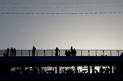 Esperando seu navio de cruzeiros para partir Fotos de Stock Royalty Free