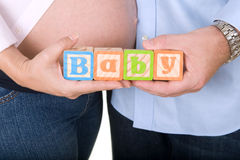 Esperando um bebê Imagem de Stock Royalty Free
