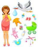 Esperando um bebê Fotos de Stock Royalty Free