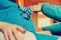 Esperando um bebê Imagem de Stock