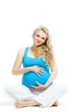 Esperando um bebê Imagens de Stock