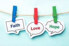 Esperanza del amor de la fe Imágenes de archivo libres de regalías