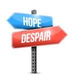 Esperanza, diseño del ejemplo de la señal de tráfico de la desesperación stock de ilustración