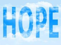 Esperanza en el símbolo imagenes de archivo