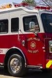 Esperanza Mills Fire Department Truck Aparatus, Carolina del Norte, los E.E.U.U. 7 de abril de 2018 imagenes de archivo