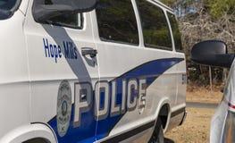 Esperanza Mills Police Vehicles Fleet, Carolina del Norte, los E.E.U.U. 7 de abril de 2018 imagen de archivo