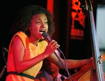 Esperanza Spalding performs in concert royalty free stock images
